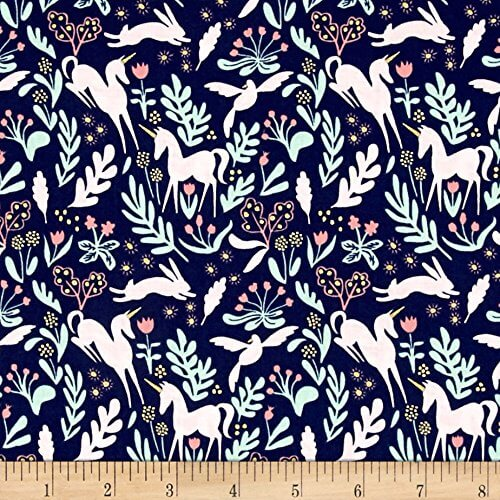 scandinavian unicorn fabric
