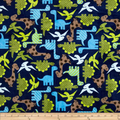 dinosaur fleece fabric