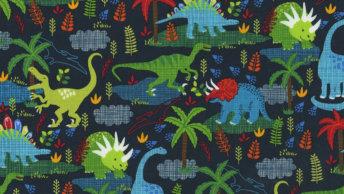 Dinosaur print fabric