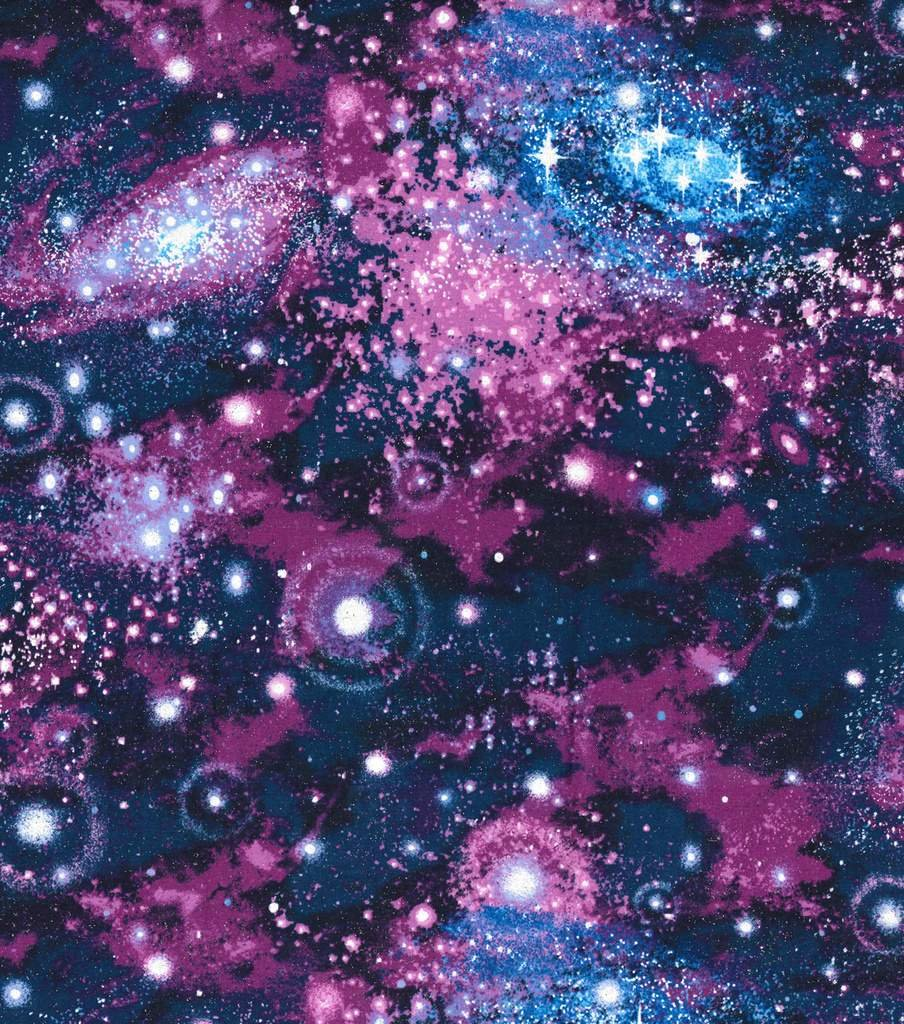 purple glitter galaxy pattern by the yard