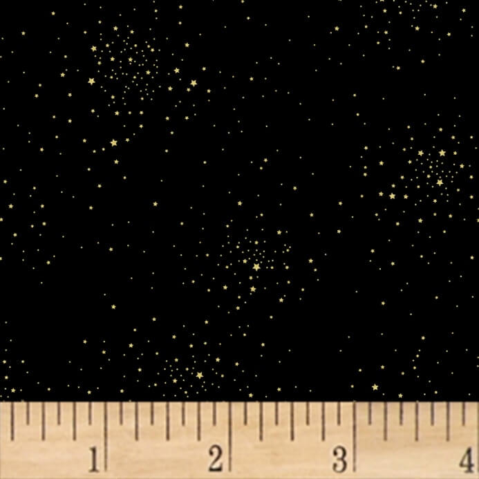gold sparkle galaxy pattern fabric