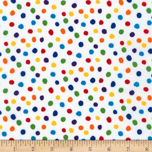 Rainbow Polka Dot Fabric
